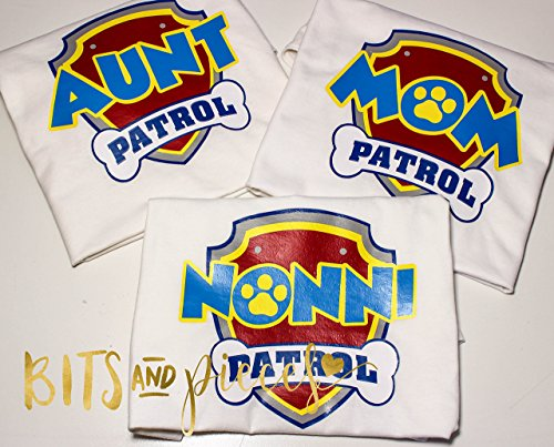 Paw Patrol Birthday Mom Aunt Grandma Shirt First