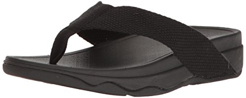 FitFlop Women's Surfa Flip-Flop, Black, 8 M US