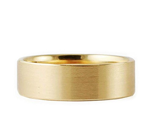 Men's & Women's 14k Yellow Gold Flat Brushed 7mm COMFORT FIT WEDDING BAND