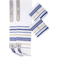 "2pcs Pack Royal blue and Gold Color Messianic Tallit prayer shawl 72""X22"" by Star Gifts"