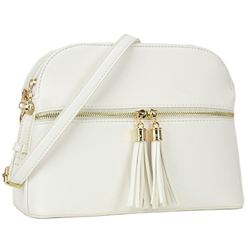 3b3ca443f3201 Lightweight Multi Zipper Designer Women Crossbody Bags Travel Shoulder  Messenger Purse Medium Size Shoulder Bags for All Seasons (MKP-JC-LP050-WT)