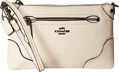 COACH Women's Grain Leather Mickie Wristlet Qb/Chalk One Size
