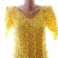 Crochet top, crochet women's clothing, crochet summer top, handmade top, clothing, crochet dress, crochet yellow blouse, summer clothes
