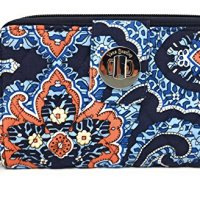 Vera Bradley Turnlock Wallet (Marrakesh with Navy Interior)