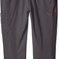 Carhartt Women's Plus Cross-Flex Size Straight Leg Knit Waist Cargo Scrub Pant, Pewter, 3X-Large Petite