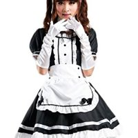 COCONEEN Anime Cosplay Costume French Maid Outfit Halloween 2-4