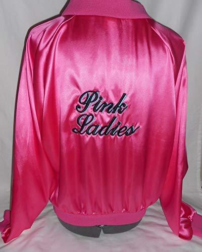 Embroidered ladies women's large 1950's Grease look pink ladies sock hop dance jacket costume costumes