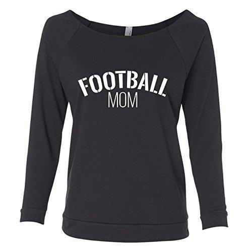 Football Mom Pullover 3/4 Raglan Sleeves Lightweight Sweatshirt for Women