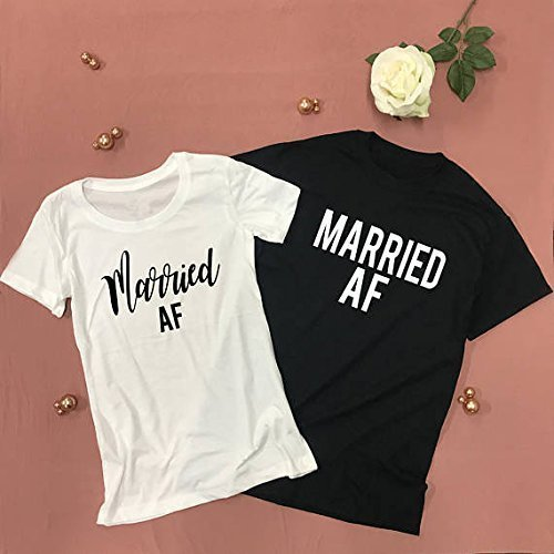 MARRIED AF Honeymoon Shirts Couples Newlywed Shirts Set | DSY Lifestyle