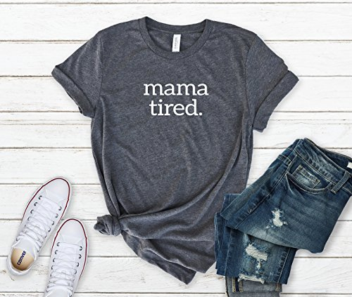 Vintage Graphic Tee Shirts For Mom Baby Shower Gifts for Mom Woman's Graphic Tee Mom Tired Quote T-Shirt Graphic Tees for Women