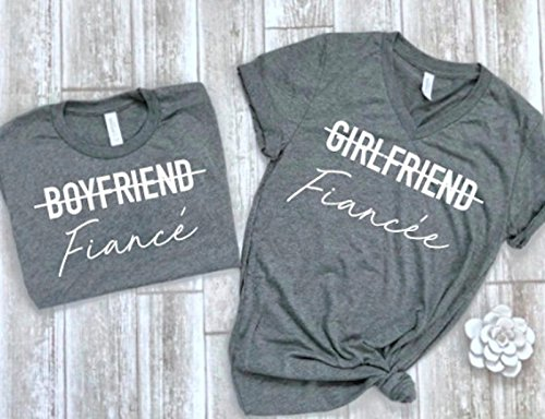cute fiance shirt fiance matching tees couple shirts matching couple tees engagement gift idea