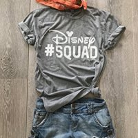 Disney Squad. Disney Team T Shirt. Disney Inspired Shirt. Hand Screen Printed. Unisex Fit For Men & Women. Gift Shirt. Unisex Fit. Crew-Neck Shirt.