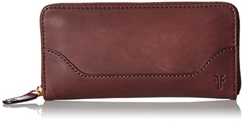 FRYE Women's Melissa Zip Wallet Smooth Full Grain, Red Wine, One Size