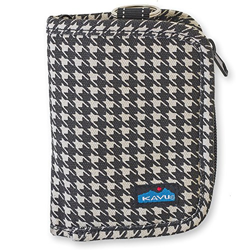 KAVU Women's Zippy Wallet, Houndstooth, One Size