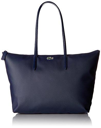 Lacoste Women's L.12.12 Concept Large Shopping Bag, NF1888PO, Navy Blue/Darkness-Pegasus, 35 x 30 x 14 cm