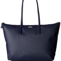 Lacoste Women's L.12.12 Concept Large Shopping Bag, NF1888PO, Navy Blue/Darkness-Pegasus, 35 x 30 x 14 cm