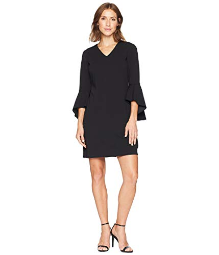 Tahari by ASL Women's Bell Sleeve Shift Dress Black 12