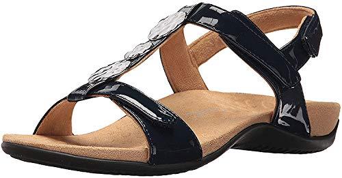 Vionic Women's Rest Farra Backstrap Sandal Navy Patent 10W