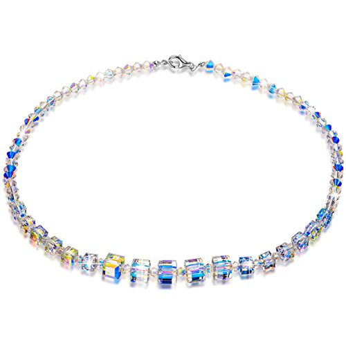 LADY COLOUR Birthday Gifts For Girls Crystal Necklace Swarovski Crystals Jewelry Her A Little Romance Wedding Party Bride April Birthstone