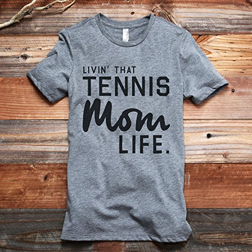 Livin' That Tennis Mom Life Women's Fashion Relaxed T-Shirt Tee Heather Grey