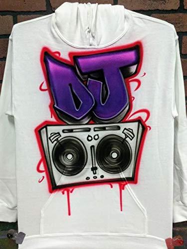 Personalized Airbrush T shirt, Sweatshirt, or Hoodie – Hip-Hop Boom Box Graffiti Design