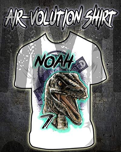 Personalized Airbrush Jurassic World Blue Raptor Shirt