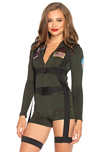 Leg Avenue Women's Top Gun Romper Costume