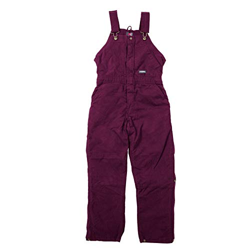 Berne Ladies Washed Insulated Bib, Large Tall, Plum