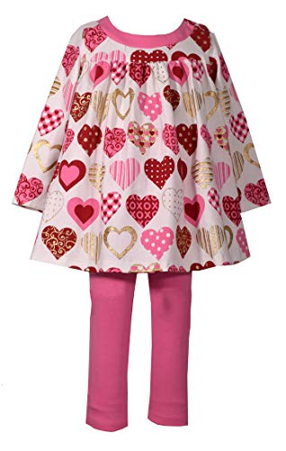 Bonnie Jean Baby Girls Valentine's Day Heart Legging Outfit (18 Months)