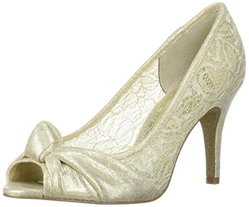 Adrianna Papell Women's Francesca Pump, Gold Mosaic Lame, 7 M US