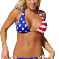 USA Tie Bikini Patriotic 4th of July Swimsuit Bikini - Top, Bottom or Set