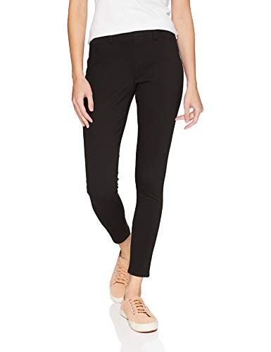 Amazon Essentials Women's Skinny Stretch Pull-On Knit Jegging, Black, Large Regular
