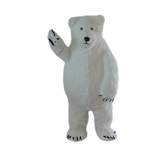 White Polar Bear Mascot Costume Cartoon Character Adult Outfit Fancy Dress Promotional Costumes Cosplay Clothes