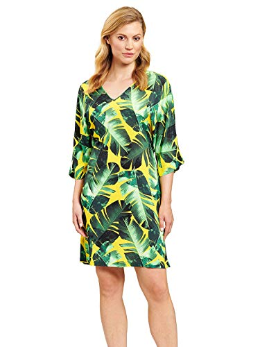 Feraud 3205089-16081 Women's Green Leaves Beach Dress 12