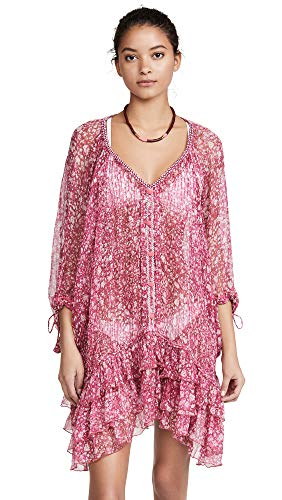 Poupette St Barth Women's Poncho Dress, Pink Aspen, One Size