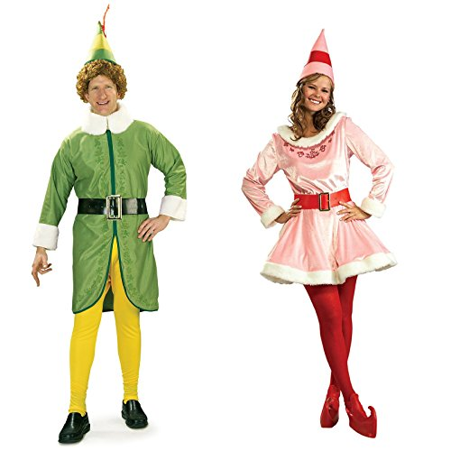 Buddy the Elf (STD) and Jovi Couples Costume Bundle Set