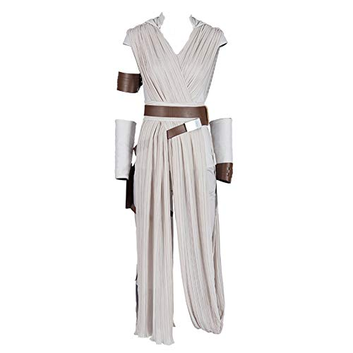 COMShow Star Wars 9 The Rise of Skywalker Rey Cosplay Costume Full Set Outfit Halloween Costume for Women (L)