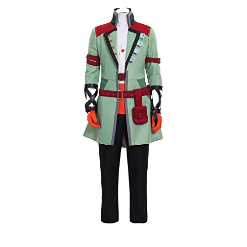 DUNHAO COS Anime Men's Ozpin Halloween Cosplay Costume XXL Green