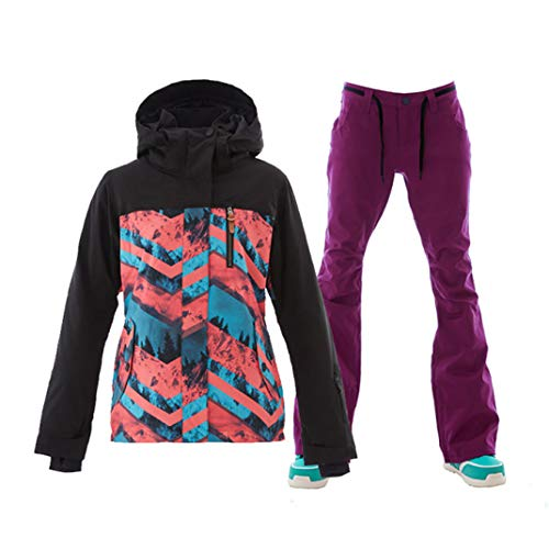 Women Ski Suits Winter Snowboarding Jackets and Pants Windproof Waterproof Colorful Female Sports Skiing Sets Blue