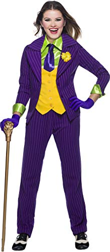 Charades DC Comics Joker Women's Costume, As Shown, X-Large