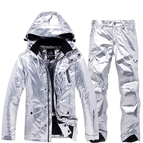 Winter Jacket Women Ski Suit Snow Jacket and Pants Windproof Waterproof Colorful Clothes Snowboard Cool Sets Silver