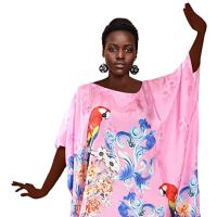 Silk kaftan Floral Inspired Beach Party Dress Tops Plus Size Holidays Kaftan Maxi Dress Beach Cover up Kaftan Pink
