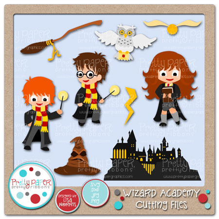 Wizard Academy Cutting Files
