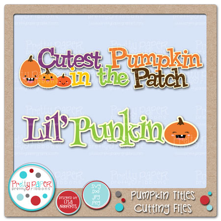 Pumpkin Titles Cutting Files