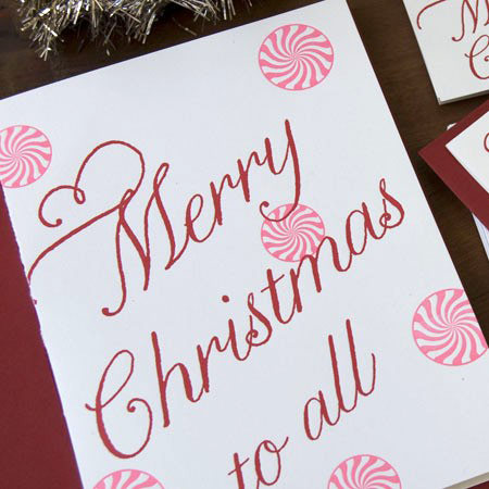 Peppermint Holiday Cards