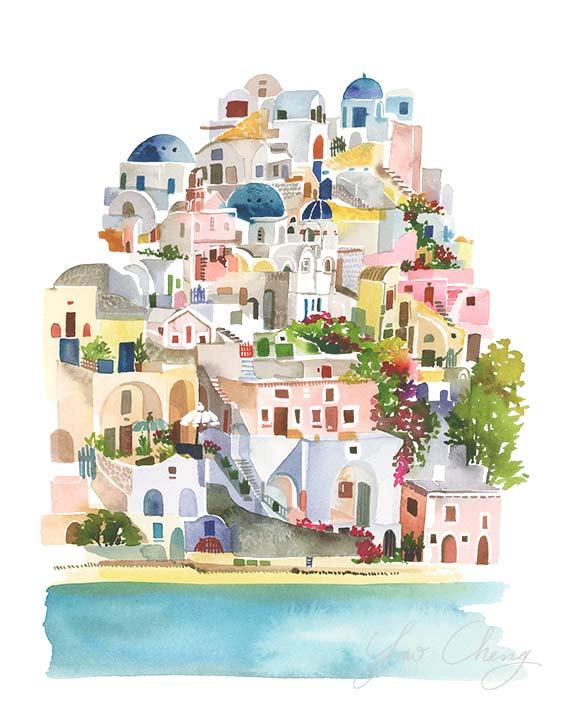 Beautiful watercolours by Yao Cheng