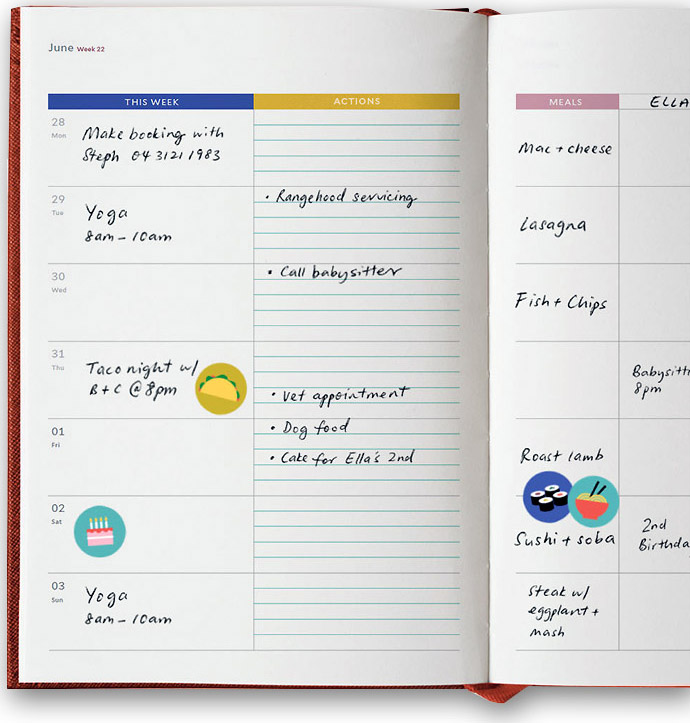Notemaker's new Milligram brand diaries are cute