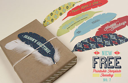 Feather gift tags from Love vs Design