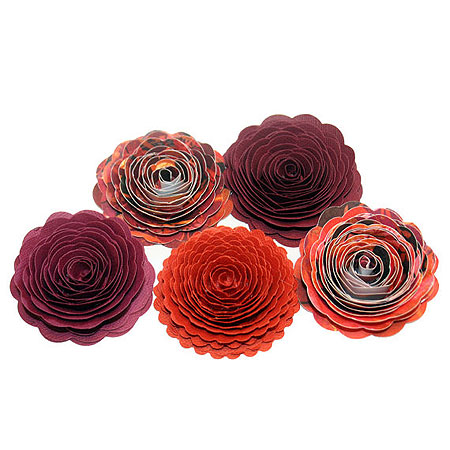 Handmade Spiral Flowers - Indian Summer