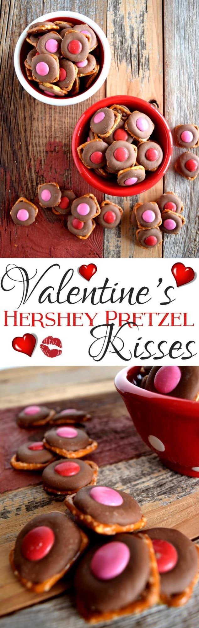 Valentine's Hershey Pretzel Kisses